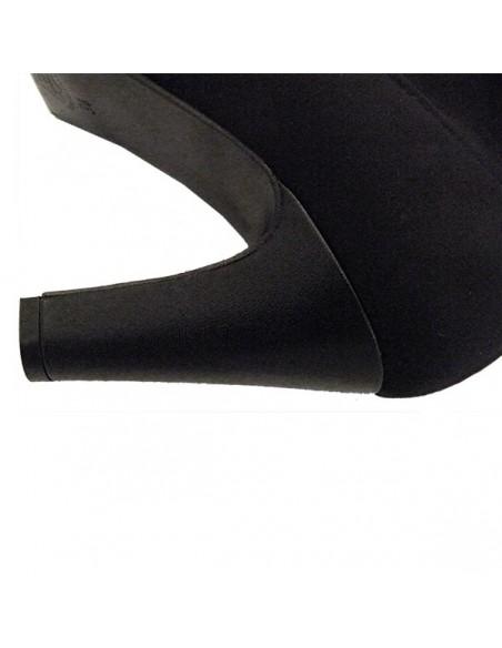 Bottes noires à talons en petite pointure femme