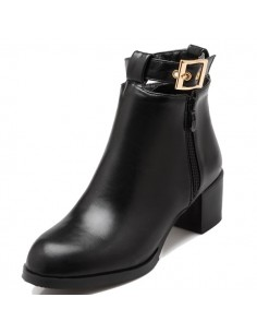 "Bottines noires ""Lilyturf"""