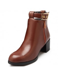 "Bottines marron ""Lilyturf"""