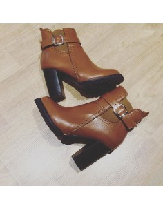 "Bottines marron ""Calla"""