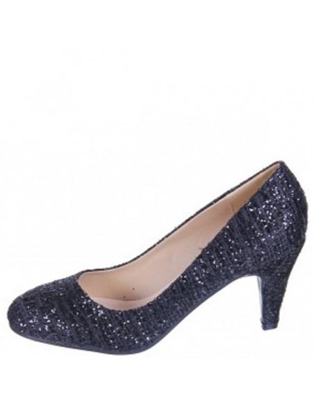 chaussures femme Escarpins pailletés noirs fete reveillon soirees chic pas cher petit prix promo soldes