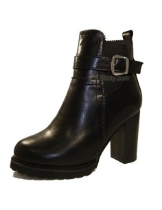 "Bottines noires ""Calla"""