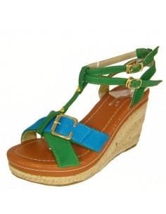 """Sandalias azules y verdes """"Tomillo"""""""