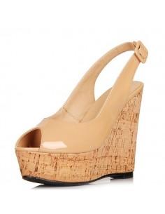 sandales hauts talons compens s en petite pointure femme. Black Bedroom Furniture Sets. Home Design Ideas