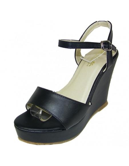 "Sandales ""Ramondia"" noires"