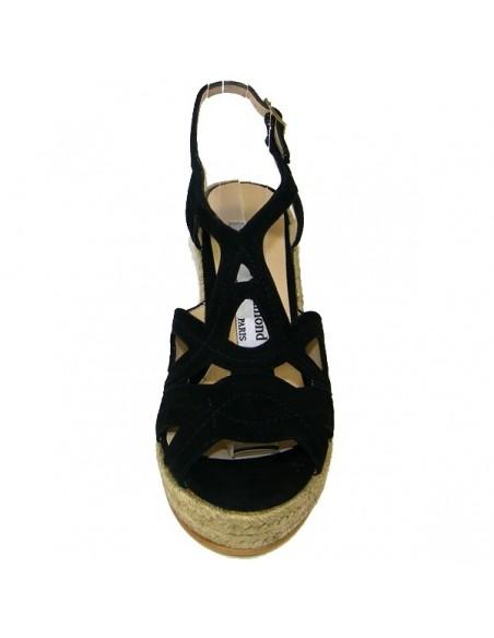 נעלי אצבע שחורות לנשים איב דה ביומונד