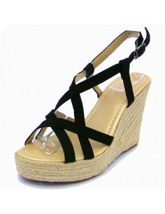 """Sandales """"Rosa"""" noires"""