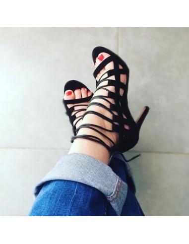 """Sandales à lacets """"Paloma"""" spartiates chic femme"""