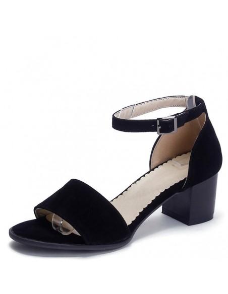 Sandales à talons carré