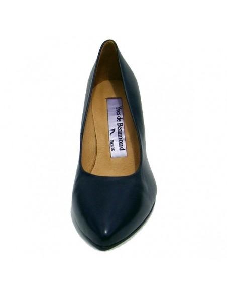 Escarpins Bleu Marine cuir