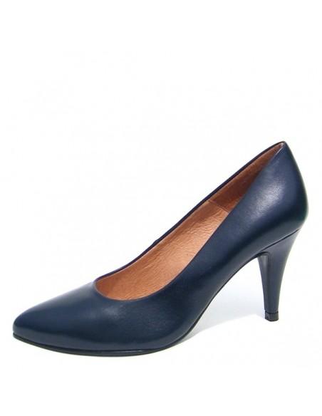 escarpins bleu marine cuir petite pointure femme. Black Bedroom Furniture Sets. Home Design Ideas