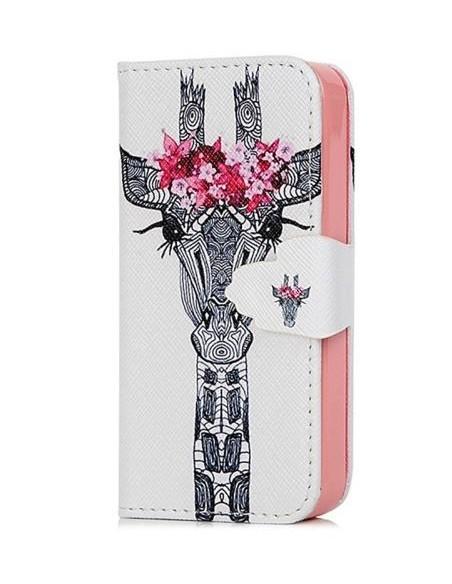 Etui portefeuille Iphone 4S Girafe