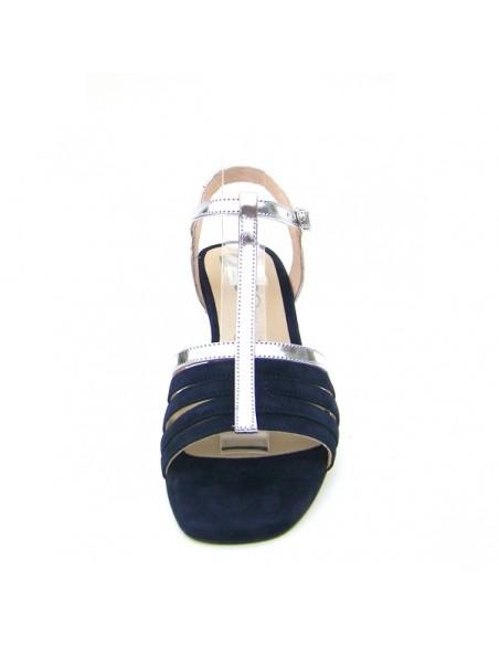 """Sandales """"Androsace bleu et argent"""""""