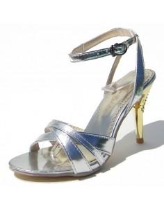 """Sandales argentées """" Sarrazine"""""""