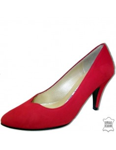 Escarpins rouges nubuck 9251