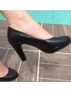 Escarpins noir cuir 4079