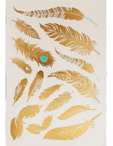 Tatouages éphémères plume
