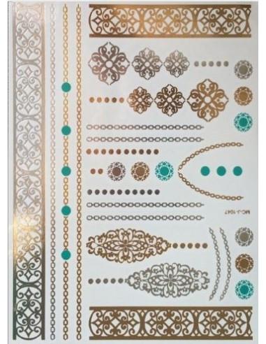 Tatouages éphémères bijoux