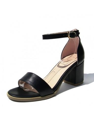 """Sandales  noires à talons carré """" Alba"""""""
