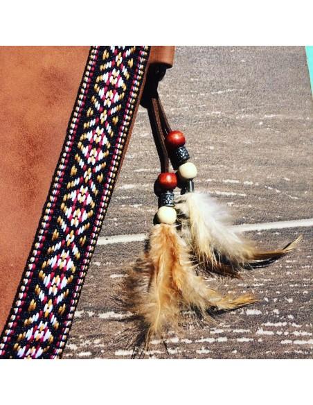 Pochette boho chic camel