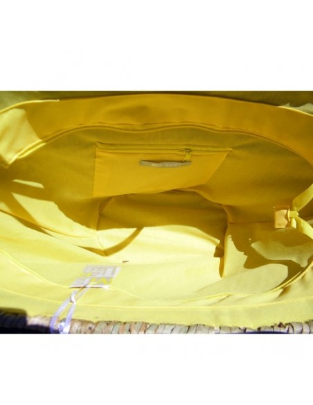 Cabas à franges jaunes