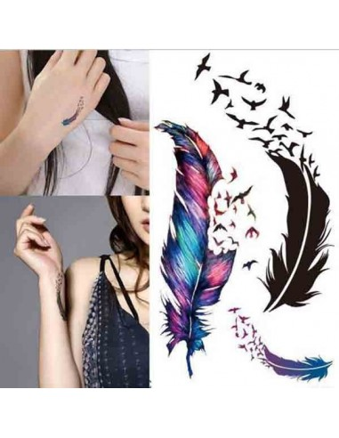 Petits Tatouages éphémères plumes