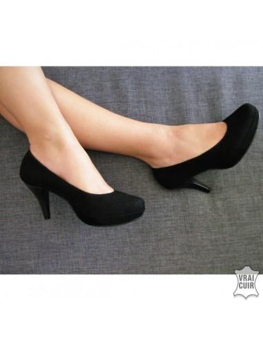 escarpins noirs avec plateforme talons en petite pointure femme. Black Bedroom Furniture Sets. Home Design Ideas