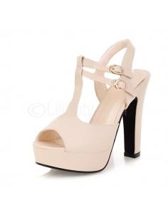 "Beige ""Balisier"" sandals"