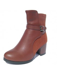 "Bottines ""Cactus"" MARRON"