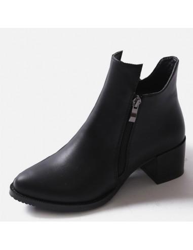 bottines noires avec petit talon en petite pointure pour femme. Black Bedroom Furniture Sets. Home Design Ideas