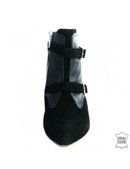 chaussures femme Bottines cuir à petits talons petite pointure femme