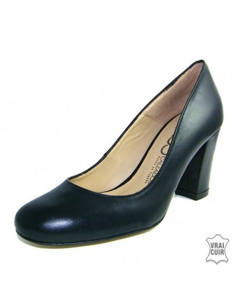 Chaussures femme petite pointure Escarpins à talons épais