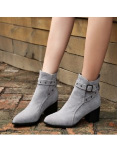 Bottines grises Palma