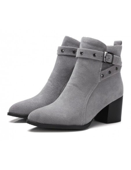 bottines grises avec petit talon en petite pointure pour femme. Black Bedroom Furniture Sets. Home Design Ideas