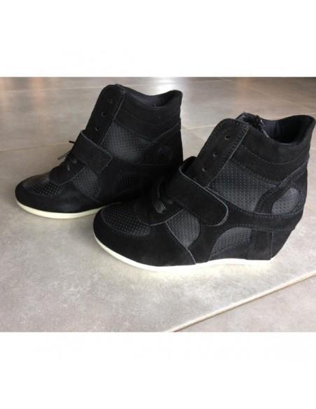 Baskets compensés Noirs Anthémis