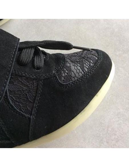 Baskets compensés Noirs Anthurium