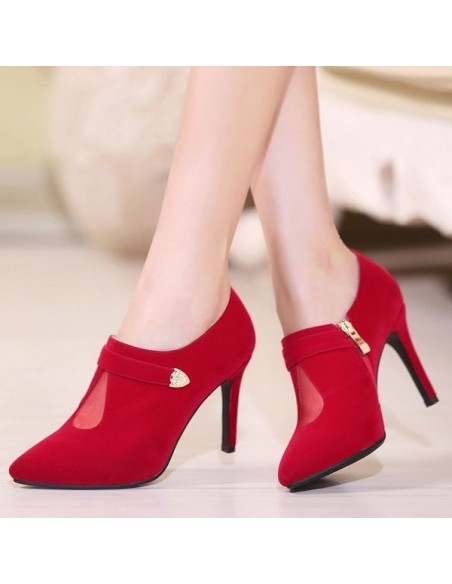 Low boots rouges