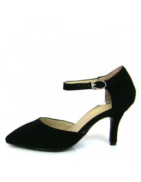 Escarpins noirs brides petite pointure femme