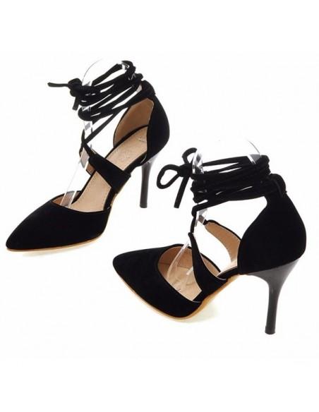 Escarpins noirs à lacets