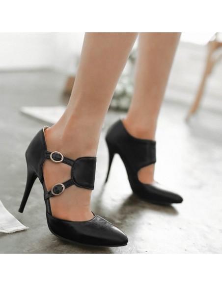 Escarpins noirs à brides Millepertuis