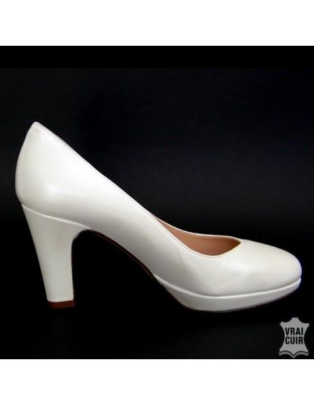 Escarpins à plateforme mariage mariee en petites pointures pour femme