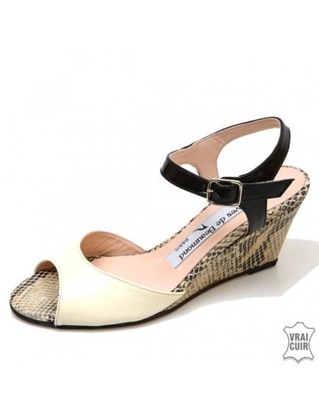 Sandales à talons compensés petites pointures femmes