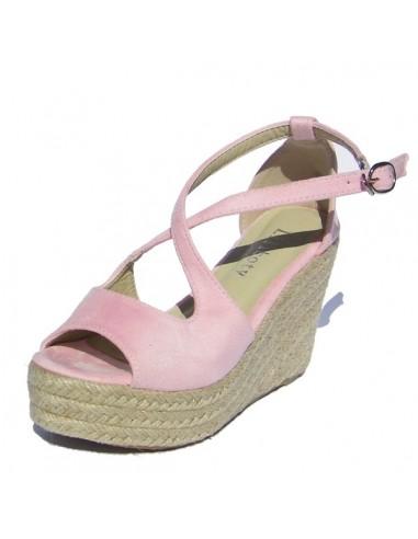 Sandales Mollys rose poudré petite pointure femme