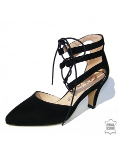 escarpins noirs a lacets ZC0178 petite pointure femme zoo calzados