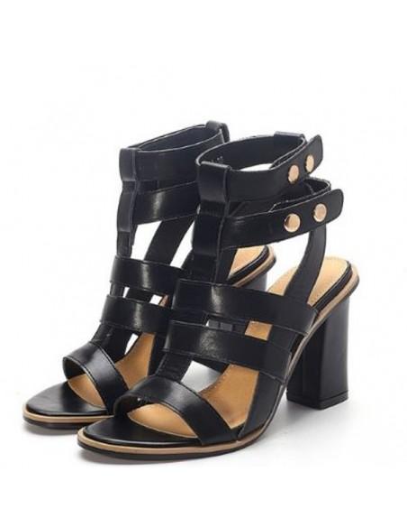 Sandales gladiateur Caladion Noires