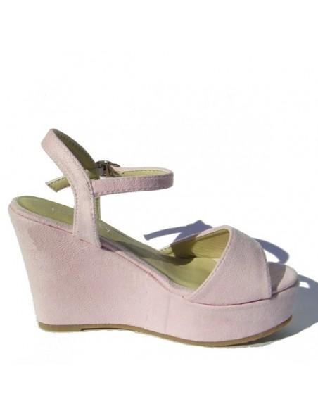 Sandales à talons compensés Ramondia Rose Nubuck