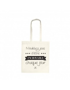 "Tote bag ""Incroyable"""