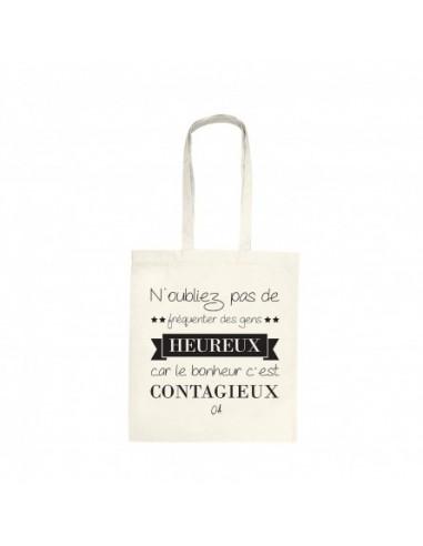 """Tote bag """"Heureux"""""""