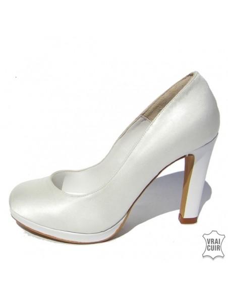 Escarpins mariage satin plateforme , chaussures mariée, mariage, petite pointure 31 32 33 34 35