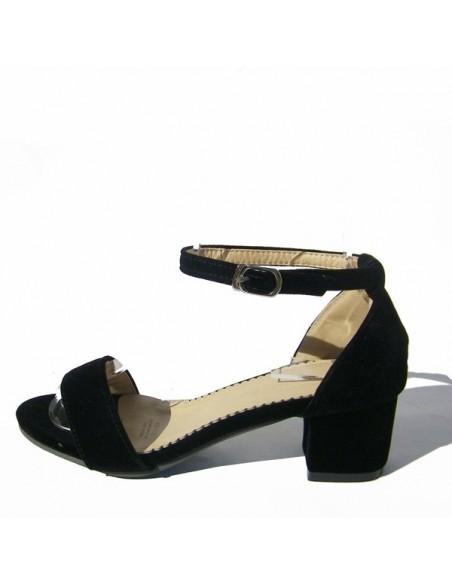 """Sandalias de terciopelo """"Erablia"""" negras"""